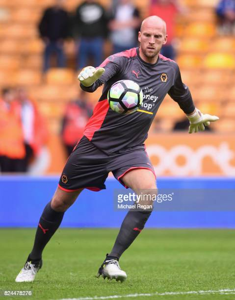 John Ruddy of Wolves in action during the preseason friendly match between Wolverhampton Wanderers and Leicester City at Molineux on July 29 2017 in...