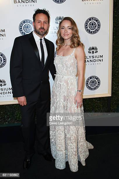 John Russo and Nikita Kahn arrive at The Art of Elysium presents Stevie Wonder's HEAVEN celebrating the 10th Anniversary at Red Studios on January 7...