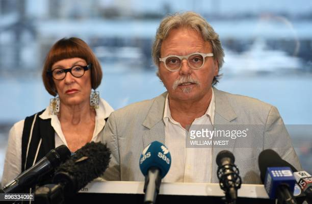 John Ruszczyk the father of Australian woman Justine Damond killed in a police shooting in the US is accompanied by his wife Maryan Heffernan as he...