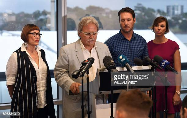 John Ruszczyk the father of Australian woman Justine Damond killed in a police shooting in the US is accompanied by his wife Maryan Heffernan son...