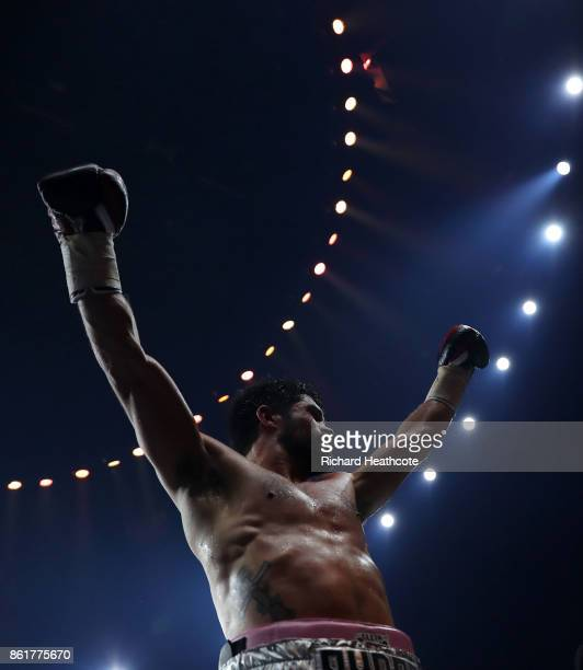 John Ryder knocks out Patrick Nielsen during their WBSS Super Middleweight Subsitute fight at SSE Arena on October 14 2017 in London England