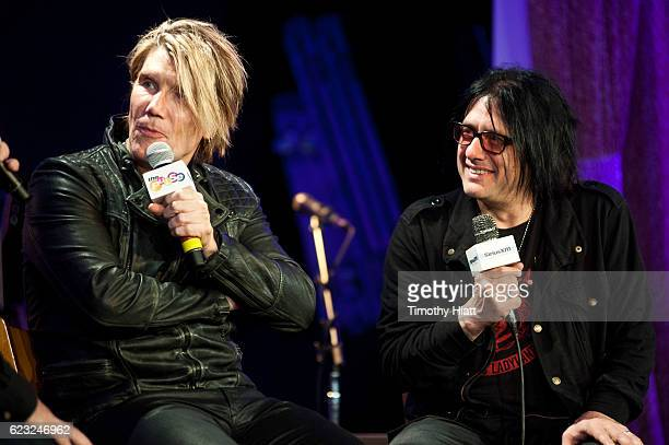 John Rzeznik and Robbie Takac of Goo Goo Dolls are interviewed as part of a priviate SiriusXM concert at City Winery on November 14 2016 in Chicago...