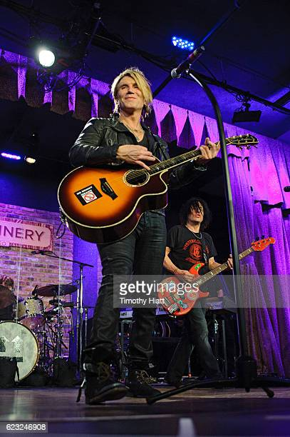 John Rzeznik and Robbie Takac of Goo Goo Dolls performs a private concert for Sirius XM at City Winery on November 14 2016 in Chicago Illinois