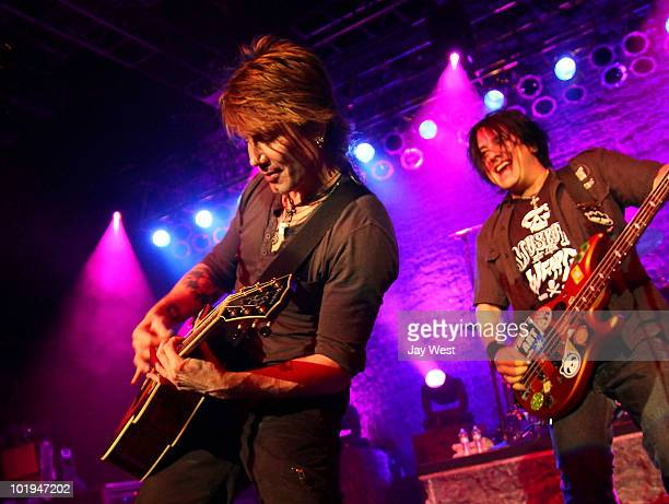 John Rzeznik and Robby Takac of Goo Goo Dolls perform at Austin Music Hall on June 9 2010 in Austin Texas