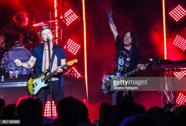 John Rzeznik and Robby Takac of the Goo Goo Dolls perform at Northwell Health at Jones Beach Theater on August 13 2017 in Wantagh New York