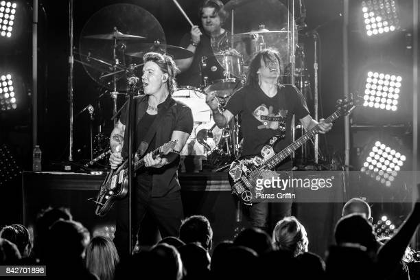 John Rzeznik and Robby Takac of the Goo Goo Dolls perform in concert at Chastain Park Amphitheater on September 4 2017 in Atlanta Georgia
