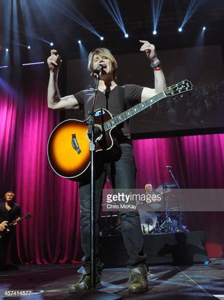 John Rzeznik Brad Fernquist and Mike Malinin of Goo Goo Dolls perform during the 2013 Star 94 Jingle Jam at Arena at Gwinnett Center on December 16...