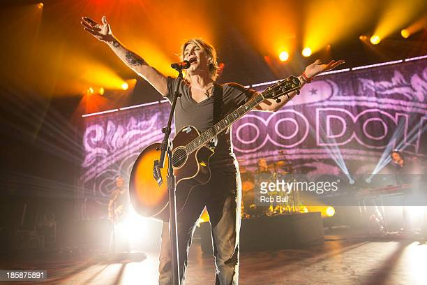 John Rzeznik of Goo Goo Dolls performs on stage at Hammersmith Apollo on October 25 2013 in London England