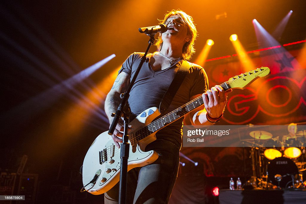 John Rzeznik of Goo Goo Dolls performs on stage at Hammersmith Apollo on October 25, 2013 in London, England.