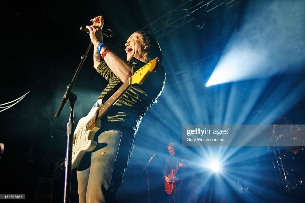 John Rzeznik of Goo Goo Dolls performs on stage at Manchester Academy on October 16, 2013 in Manchester, England.