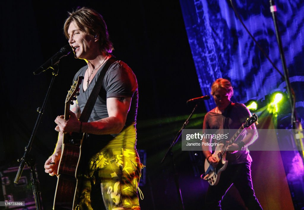 John Rzeznik of the Goo Goo Dolls performs at Nikon at Jones Beach Theater on August 17, 2013 in Wantagh, New York.
