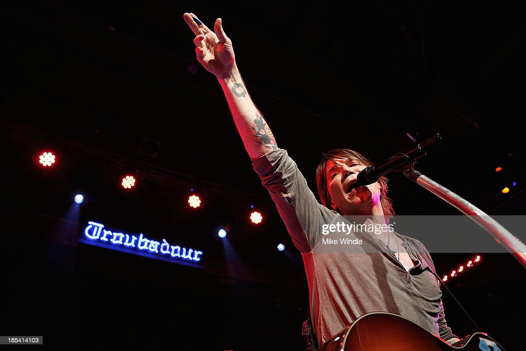 John Rzeznik of the Goo Goo Dolls performs on stage during 104.3FM and Warner Sound present the Goo Goo Dolls in concert at Troubadour on April 3, 2013 in West Hollywood, California.