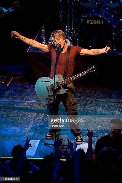 John Rzeznik of the GooGoo Dolls during Goo Goo Dolls in Concert at the Avalon in New York City April 24 2006 at Avalon in New York New York United...