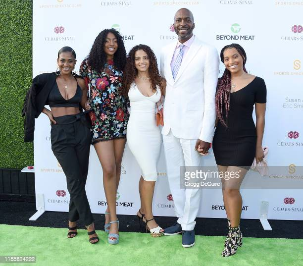 John Salley and family attend the CedarsSinai And Sports Spectacular's 34th Annual Gala Celebration at The Compound on July 15 2019 in Inglewood...