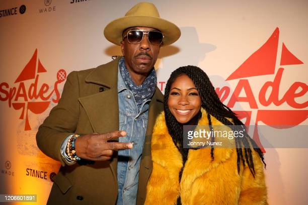 John Salley and guest attends Stance Spades At NBA AllStar 2020 at City Hall on February 15 2020 in Chicago Illinois