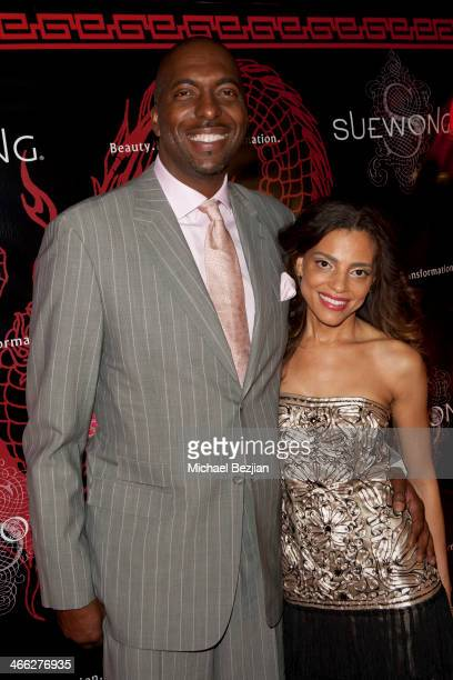 John Salley and his wife Natasha Duffy attend Sue Wong Hosts Party Celebrating The Chinese New Year Year Of The Horse at The Cedars on January 31...