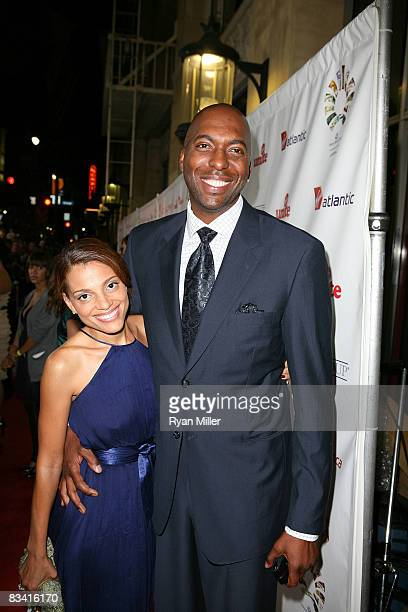 John Salley and his wife Natasha Salley during the arrivals for the Rock The Casbah event benefiting Virgin Unite held at the Roosevelt Hotel on on...