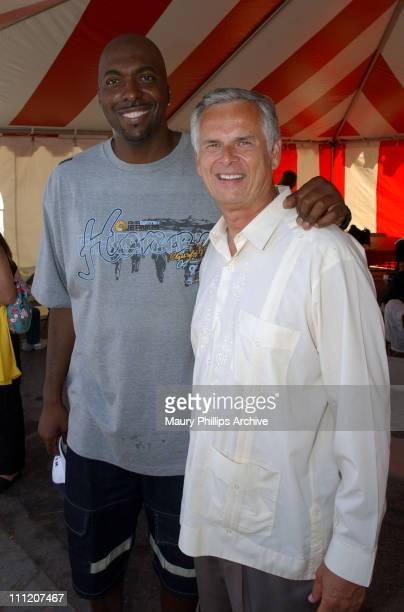 John Salley and Mayor James Hahn during Tyrese Gibson Watts Foundation 3rd Annual Watts Day 2003 at Charles Drew University of Medicine and Science...