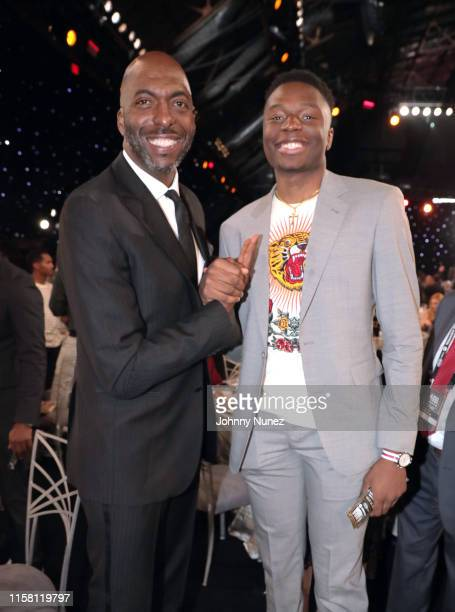 John Salley and Mfiondu Kabengele attend the 2019 NBA Awards presented by Kia on TNT at Barker Hangar on June 24 2019 in Santa Monica California