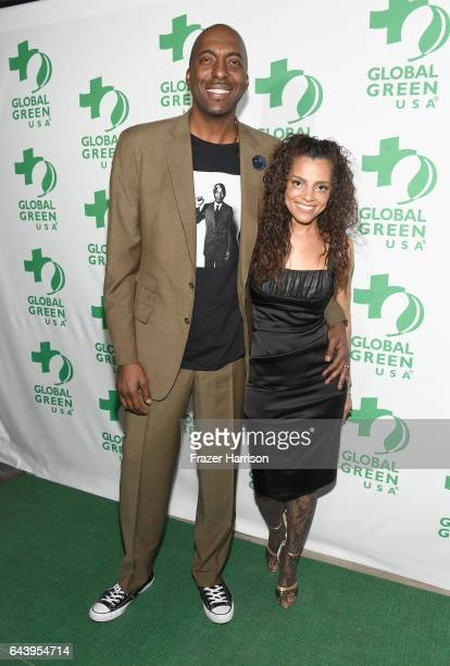 John Salley and Natasha Duffy attend the 14th Annual Global Green Pre Oscar Party at TAO Hollywood on February 22 2017 in Los Angeles California