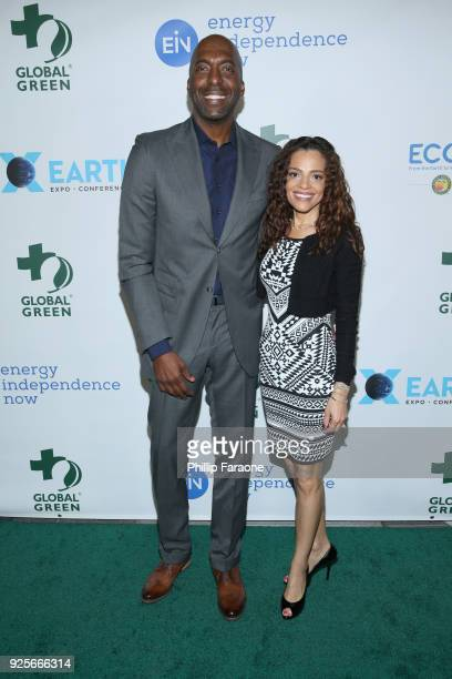 John Salley and Natasha Duffy attend the 15th Annual Global Green PreOscar Gala on February 28 2018 in Los Angeles California