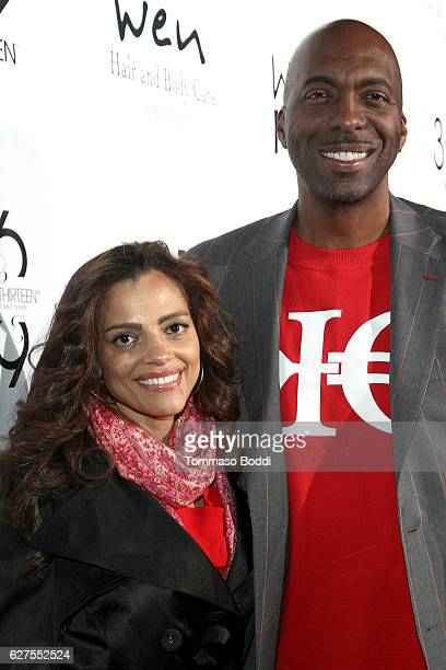 John Salley and Natasha Duffy attend the Chaz Dean WEN Winter Party Benefiting Love is Louder on December 3 2016 in Los Angeles California