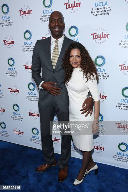 John Salley and Natasha Duffy attend UCLA's 2018 Institute of the Environment and Sustainability Gala on March 22 2018 in Beverly Hills California