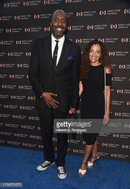John Salley and Natasha Salley attend the Mercy For Animals 20th Anniversary Gala at The Shrine Auditorium on September 14 2019 in Los Angeles...