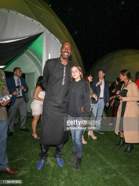 John Salley and Sarah Moore are seen on April 20 2019 in Los Angeles California