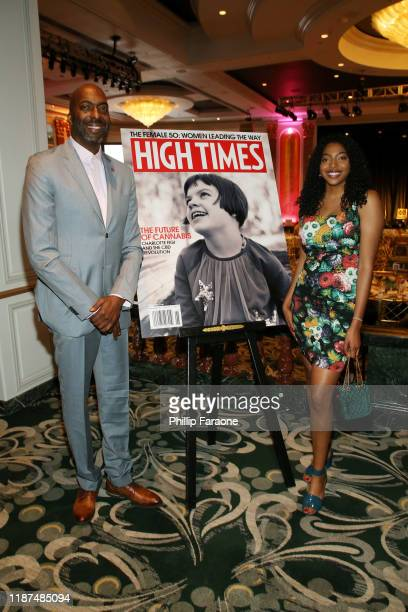 John Salley and Tyla Salley attend High Times Female 50 at The Beverly Hills Hotel on November 13 2019 in Beverly Hills California