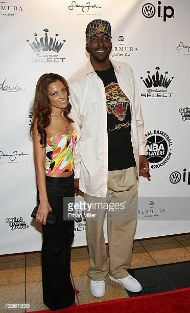 John Salley and wife arrive at the 2007 NBPA AllStar Gala presented by Budweiser Select at the Mandalay Bay Events Center on February 17 2007 in Las...