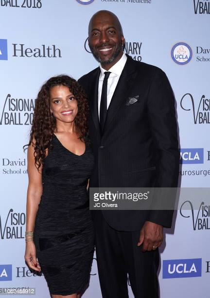John Salley and wife Natasha Duffy attend the 2018 Visionary Ball benefiting the UCLA department of neurosurgery at The Beverly Hilton Hotel on...
