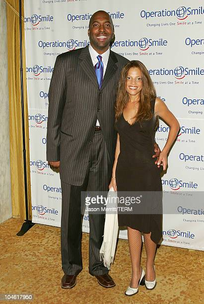 John Salley and wife Natasha during Operation Smile 4th Annual Los Angeles Gala at Regent Beverly Wilshire Hotel in Los Angeles California United...