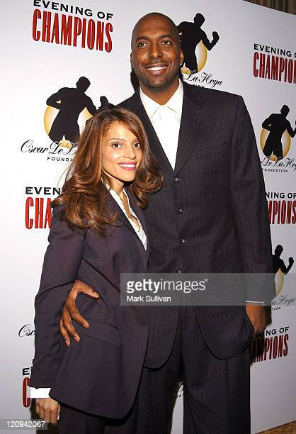 John Salley and wife Natasha during Oscar De La Hoya Hosts 7th Annual Evening of Champions at The Regent Beverly Wilshire Hotel in Beverly Hills...