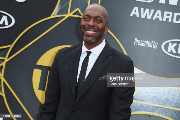 John Salley attends 2019 NBA Awards at Barker Hangar on June 24 2019 in Santa Monica California