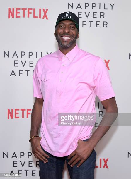 Netflix Director of Independent Film Ian Bricke speaks onstage at a screening of Netlfix's 'Nappily Ever After' at Harmony Gold Theatre on September...