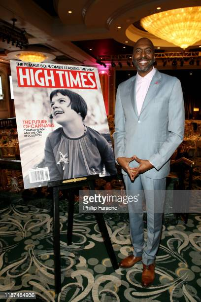 John Salley attends High Times Female 50 at The Beverly Hills Hotel on November 13 2019 in Beverly Hills California