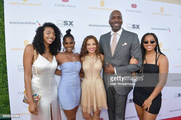 John Salley Natasha Duffy and family attend the 33rd Annual CedarsSinai Sports Spectacular at The Compound on July 15 2018 in Inglewood California