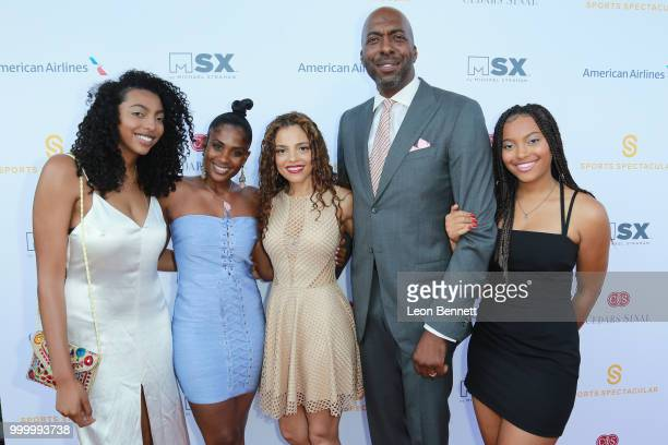 John Salley Natasha Duffy and family attends the 33rd Annual CedarsSinai Sports Spectacular Gala on July 15 2018 in Los Angeles California