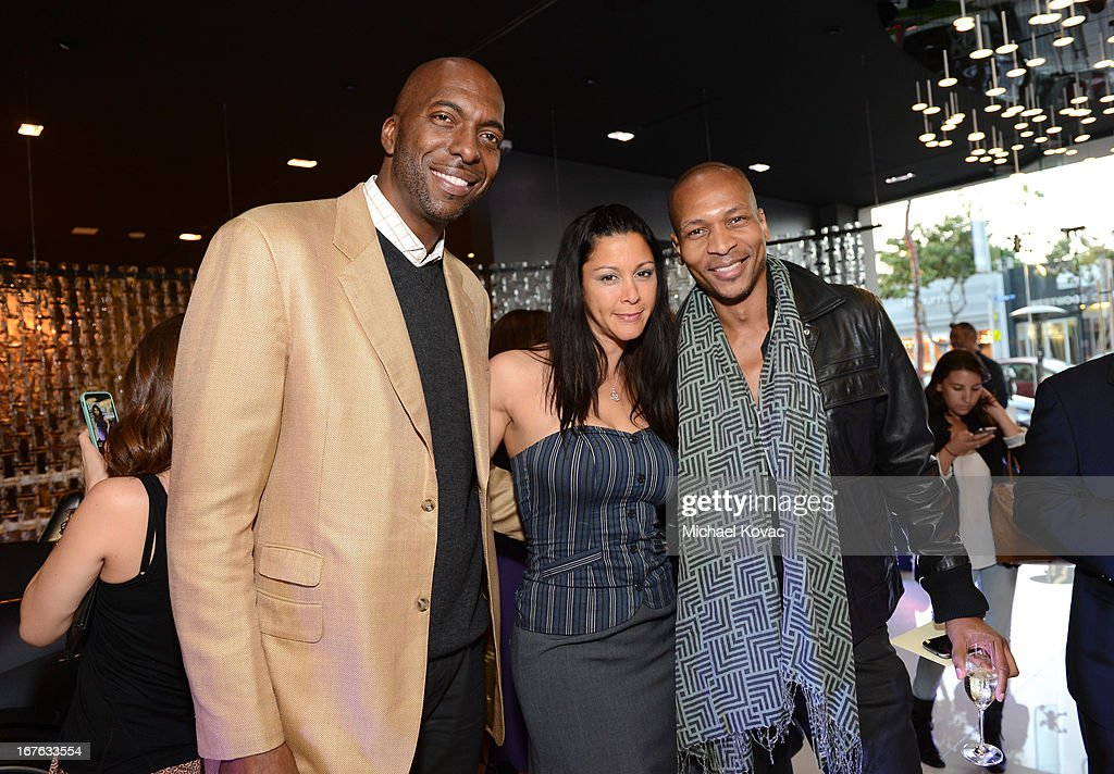 John Salley, Nika La Rue and TV personality Bruce Reynolds attend the BritWeek Christopher Guy event with official vehicle sponsor Jaguar on April 26, 2013 in Los Angeles, California.