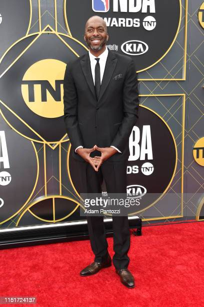 John Salley poses for a photograph on the red carpet before the 2019 NBA Awards Show on June 24 2019 at Barker Hangar in Santa Monica California NOTE...