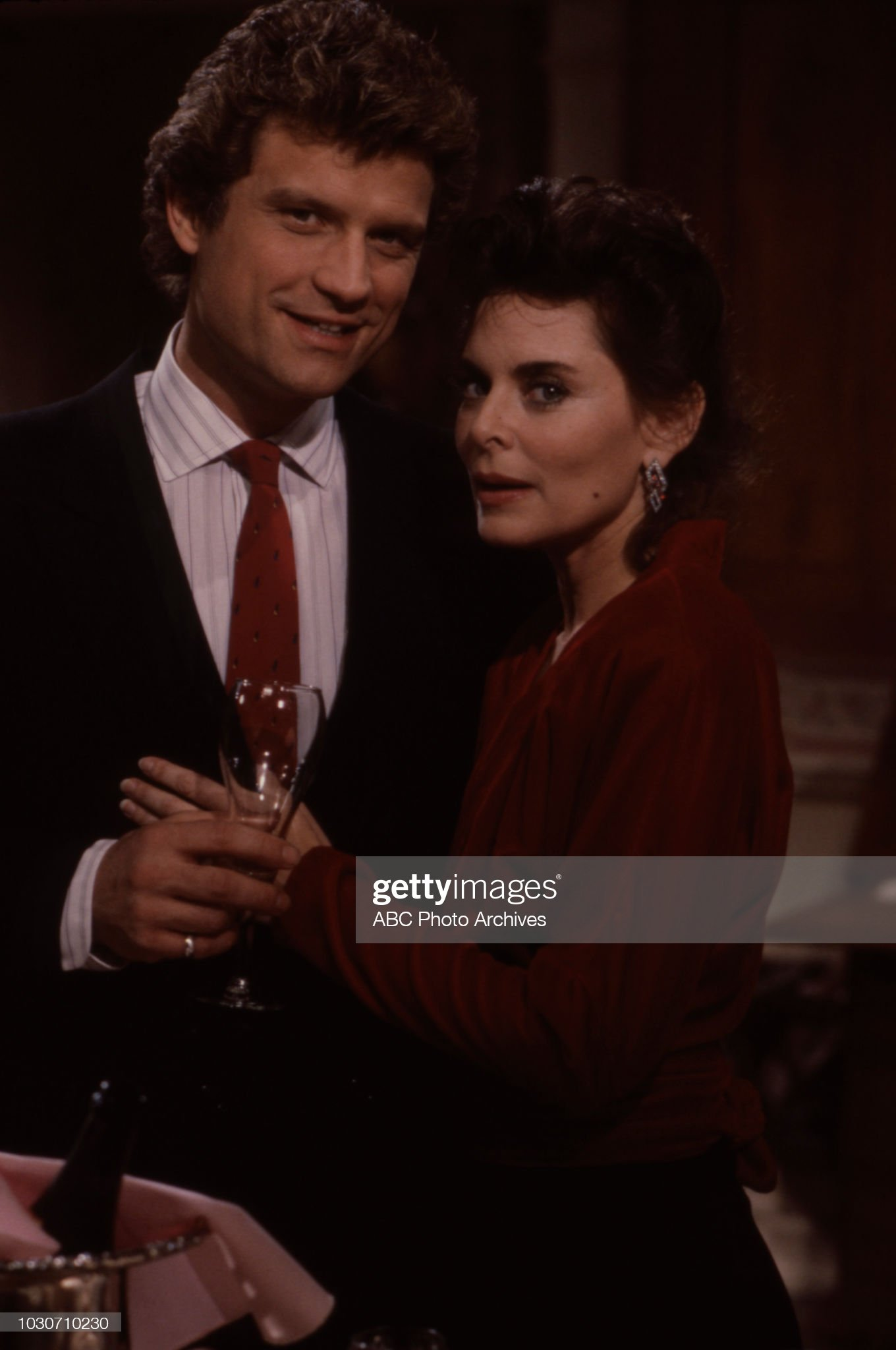 John Sanderford, Nancy Addison Appearing On 'Ryan's Hope' : News Photo