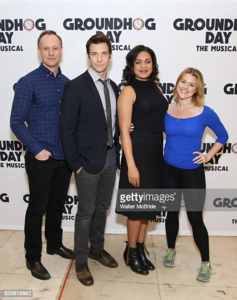 John Sanders Andy Karl Barrett Doss and Rebecca Faulkenberry attend the Groundhog Day'' press day at The New 42nd Street Studios on February 2 2017...