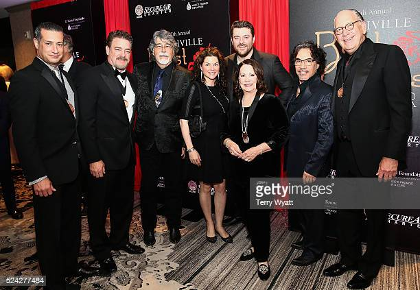 John Sanzo of Secure Air Charter Rob Beckham of WME Randy Owen of the band Alabama Aimee Oates Chris Young Committee CoChairman Eliza Kraft Olander...