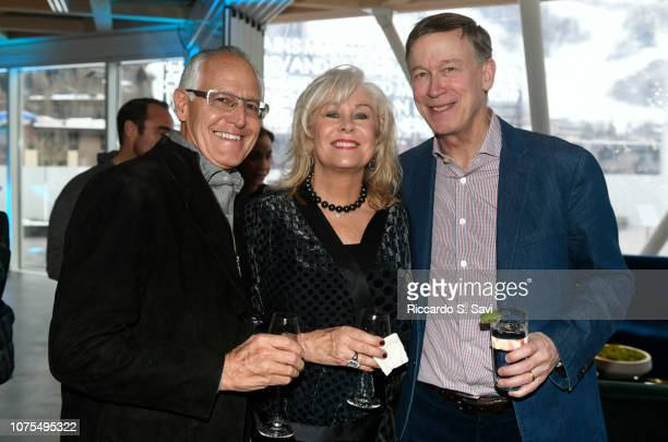 John Sarpa Jan Sarpa and Colorado Governor John Hickenlooper attend The Next A Benefit For The Aspen Art Museum at the Aspen Art Museum on December...