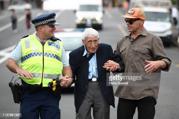 John Sato 95 one of only two Japanese servicemen in the New Zealand army in WWII took two buses from Howick to join the march against racism at Aotea...
