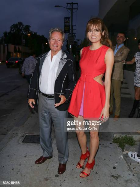 John Savage and Blanca Blanco are seen on June 05 2017 in Los Angeles California