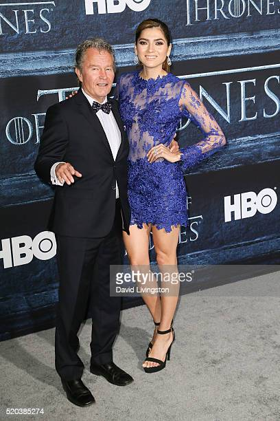 John Savage and Blanca Blanco arrive at the premiere of HBO's 'Game of Thrones' Season 6 at the TCL Chinese Theatre on April 10 2016 in Hollywood...