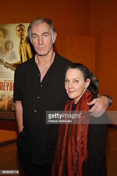 """John Sayles and Maggie Renzi attend MUSEUM OF MOVING IMAGES SALTUES DANNY GLOVER, JOHN SAYLES and """"HONEYDRIPPER"""" at The Times Center on December 19,..."""