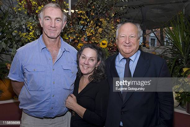 John Sayles, Maggie Renzi and Bobby Zaren attend a lunch in honor of director John Sayles hosted by the Savannah Film Festival October 17, 2007 in...